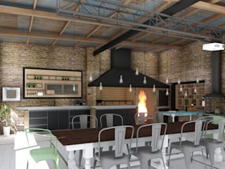 Dining room by ARBOL Arquitectos , Rustic