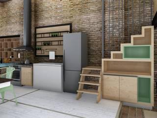 Quincho Loft Industrial: Cocinas de estilo  por ARBOL Arquitectos