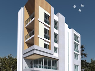 Residential Apartment - Rajouri Garden/New Delhi:  Houses by One sq. meter Architects & Interior Designers