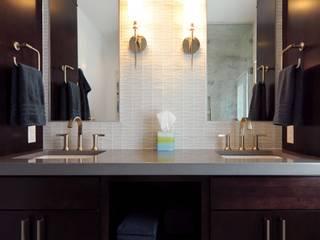 Modern Guest Bath Olamar Interiors, LLC Modern style bathrooms Tiles White