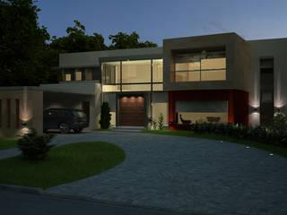 MODERNA: Casas de estilo  por LLACAY arquitectos