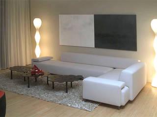 Moderno: Salas de estilo  por Claudia Luján