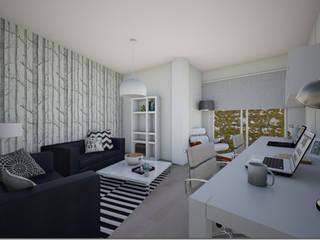 Duplex Ifara Estudios y despachos de estilo moderno de Abaco Decoración Moderno