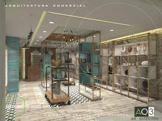 Restaurante Hotel Oaxaca:  de estilo  por AQ3 Arquitectos