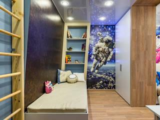 Вишнёвый сад в открытом космосе: Детские комнаты в . Автор – Школа Ремонта, Модерн