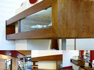 Estudio Karduner Arquitectura Modern offices & stores Wood Red