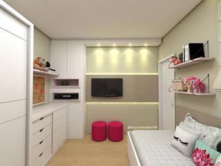 Projeto Quarto Infantil: Quarto infantil  por Mariana Bertelli Arquitetura e Interiores