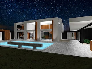 Casa Bravo - García, Ovalle, Chile: Casas de estilo moderno por Smartlive Studio