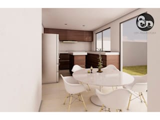 ECNarquitectura Modern Kitchen White