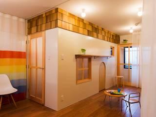 北花田の家 / House in kitahanada: アトリエセッテン一級建築士事務所が手掛けたリビングです。