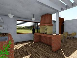 Balcon, Veranda & Terrasse minimalistes par OmaHaus Arquitectos Minimaliste