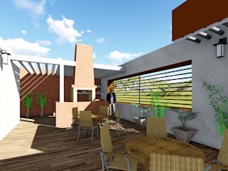 Balkon, Beranda & Teras Minimalis Oleh OmaHaus Arquitectos Minimalis