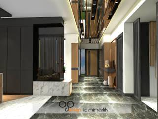 GO Design İç Mimarlık – N.D. Koşuyolu Villa Projesi:  tarz Koridor ve Hol