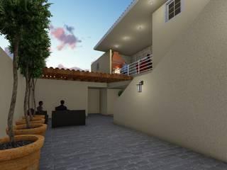 Balkon, Beranda & Teras Gaya Rustic Oleh OmaHaus Arquitectos Rustic