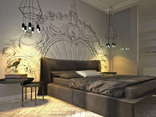 Industrial style bedroom by U-Style design studio Industrial
