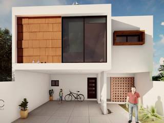 CASA CABRERA: Casas de estilo  por DAC arquitectura