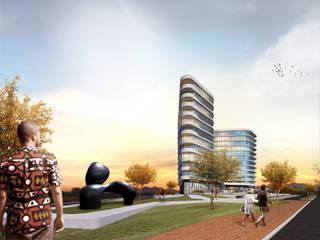 Talatona Business Center: Escritórios e Espaços de trabalho  por arquitetura.501