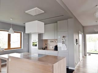 dom w Gotkowicach - kuchnia: styl , w kategorii Kuchnia zaprojektowany przez PRACOWNIA PROJEKTOWA JAGANNA