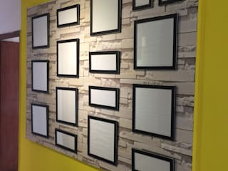 Wall Of Frames:   by Pee Cee Interiors