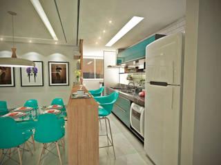 Cozinha Integrada Cozinhas modernas por Gláucia Brito Interiores Moderno