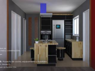 Casa Valentina. Proyecto de Cocina, equipamiento y mobiliario:  de estilo  por Ados