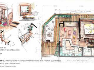 Casa de la Palma. Proyecto de Vivienda mínima en escasos metros cuadrados.:  de estilo  por Ados