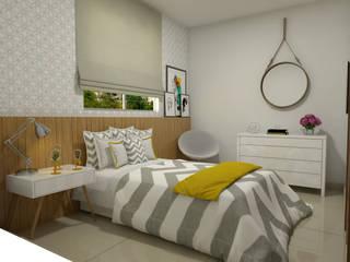 Apartamento do jovem casal Quartos modernos por Home projetos Moderno