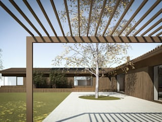 110_Abitazione in campagna: Camera da letto in stile  di MIDE architetti