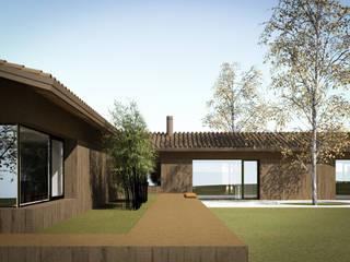 110_Abitazione in campagna: Giardino d'inverno in stile  di MIDE architetti
