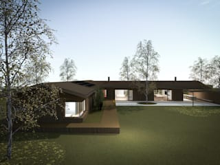 110_Abitazione in campagna: Giardino in stile  di MIDE architetti