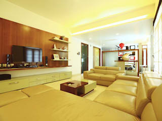 Residence at Sarjapur Road Modern media room by Space Trend Modern