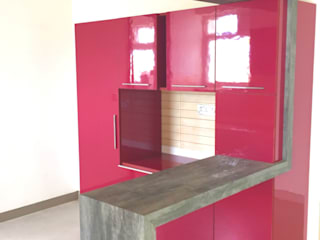 Flat at Horamavu Main Road Minimalist kitchen by Space Trend Minimalist