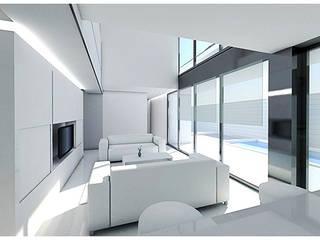 Vivienda S Salones de estilo moderno de Pablo Olmedo Arquitecto Moderno
