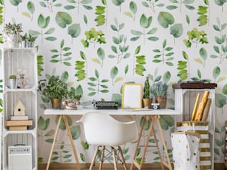 Pixerstick self-adhesive wallpapers Pixers Living roomAccessories & decoration Green