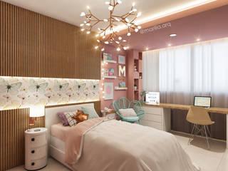 Quarto da Menina - Projeto em Brasília: Quarto infantil  por Marilia Zimmermann Arquitetura e Interiores,Moderno