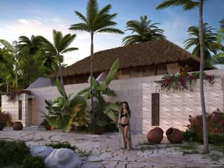 Villa Spa:  de estilo  por Polygon Studio