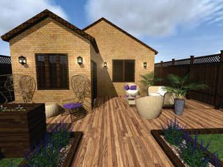 Sector de verde con plantas de poco mantenimiento Jardines clásicos de Diseño de Locales Clásico