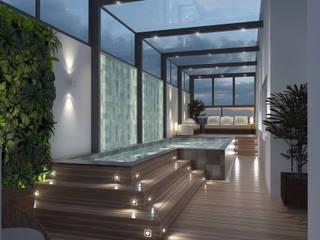 Terraço Opção 01: Terraços  por Due Arquitetura