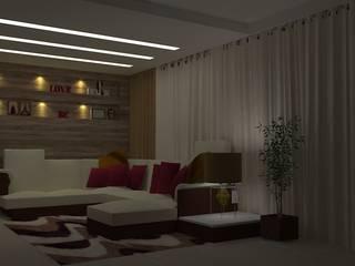 Sala Estar: Salas de estar  por Projetos Secilia Garrido,Moderno