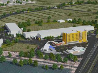 Parque Industrial : Espacios comerciales de estilo  por MAAS Arquitectura & Diseño