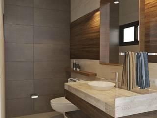 Baño principal: Baños de estilo  por Crearqtiva