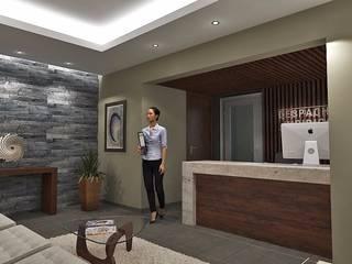 Oficinas corporativas: Pasillos y recibidores de estilo  por Crearqtiva
