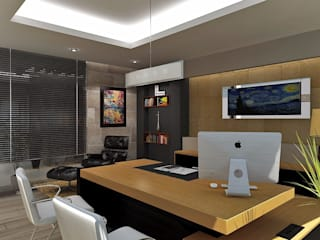 Oficinas corporativas: Estudios y oficinas de estilo  por Crearqtiva