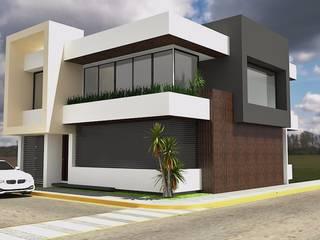 Diseño de fachada:  de estilo  por Crearqtiva