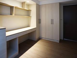 全室案例-台北市吳宅:  臥室 by ISQ 質の木系統家具