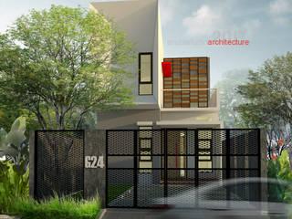 Tampak Depan Rumah Bermuka Dua:  Rumah tinggal  by ARSITA STUDIO architecture