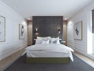 Eclectic style bedroom by Студия дизайна и визуализации интерьеров Ивановой Натальи. Eclectic