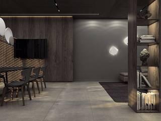 Гостиная в . Автор – Polka architecture studio