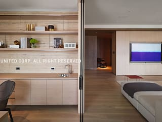 臺北陽公館 现代客厅設計點子、靈感 & 圖片 根據 京璽國際 現代風