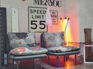 غرفة المعيشة تنفيذ Abita design srl / Paolo Vindigni,
